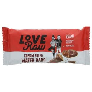 Loveraw Cre&M Filled Choc Wafer Bar - 43g